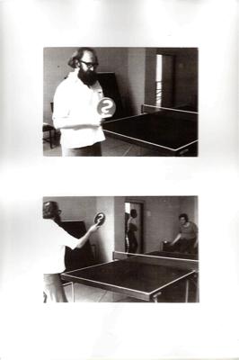 JÚLIUS KOLLER, « Anti-Ping-Pong Player » (U.F.O.), 1980, Performance, Bratislava,