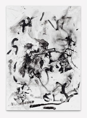 Leo GABIN, Black Panorama, 2011, Painting - lacquer, acrylic and silkscreen ink on canvas, 202 x 145 cm (79.5 x 57.1 inches), LG9248