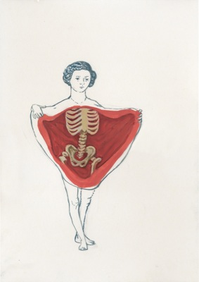 Aleksandra Waliszewska, Anatomica, mixed media on cardboard, 25x35 cm, 2010