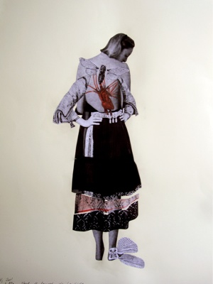 Augusta Atla. Objet de femmes-de la vida. 2011. Photo-collage on paper. 76x58 cm. Courtesy AD Gallery.