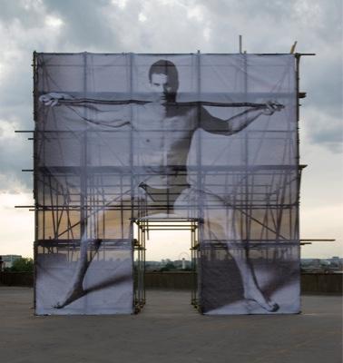 Anthea Hamilton, Aquarius, 2010, digital print on vinyl, 750 x 750 cm. Photo: Joseph Balfour