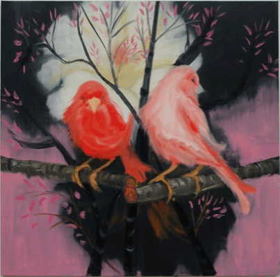 "Ann Craven, from the installation ""Shadow's Moon"", 2008, oil on canvas, 91.4 x 76.2 cm"
