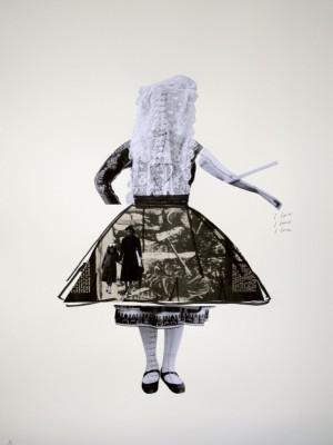 Augusta Atla, Objet de femmes - de la vida, 2011, Photo-collage on paper, 76 x 58 cm