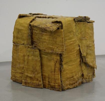 Maro Fassouli, Cell, 2009, wax, wood, 70 x 80 x 110 cm