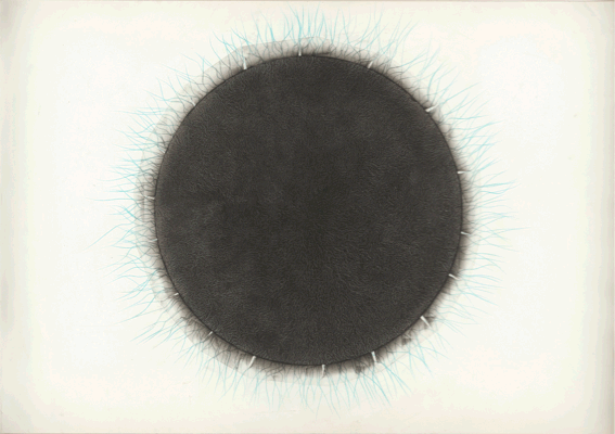 Eleni Panouklia, Materia Incognita IIa, 2010, tape, colored pencil, graphite on paper, 30x42cm