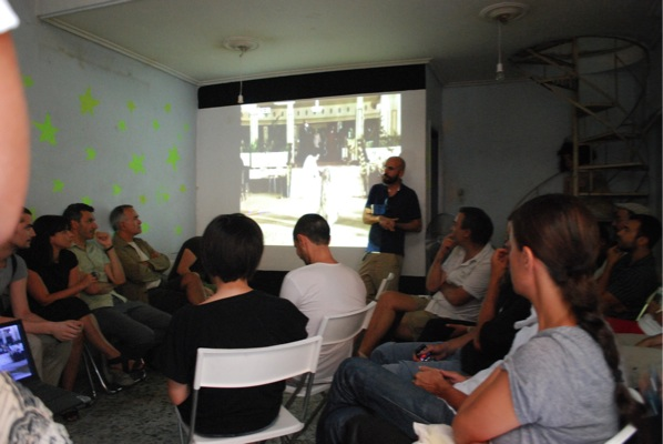 Andreas Angelidakis, The Building that went to the Mountain, July 12, 2011, Panel discussion, duration: 1 hour