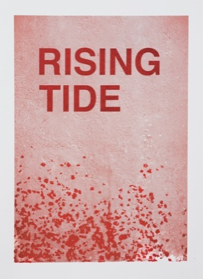 "Helen de Main, ""Rising Tide"", 2011. Screen print on paper, 42 x 59cm"
