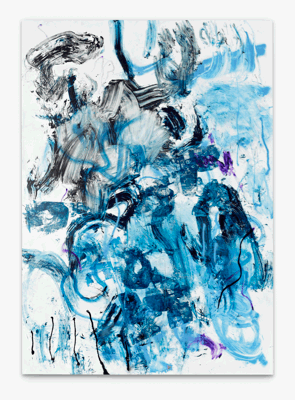 Leo GABIN, Mouth Clean, 2011, Painting - lacquer, spray paint, acrylic and silkscreen ink on canvas, 202 x 145 cm (79.5 x 57.1 inches), LG9251