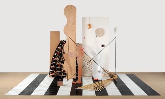 Anthea Hamilton, The Piano Lesson, 2007, mixed media, 240 x 500 x 400. Photo: Justin Piperger