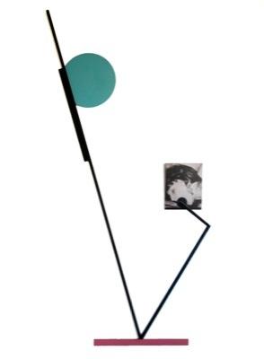"Vassilis H, ""Face"", 2010. C print on aluminium, steel, spray paint, 102 x 40 x 30cm"