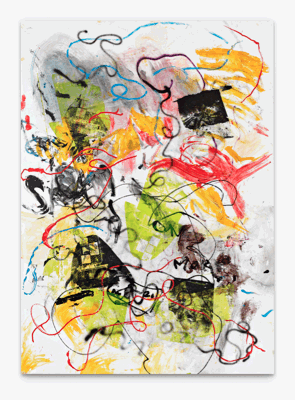 Leo GABIN, Set it Out, 2011, Painting - lacquer, acrylic and silkscreen ink on canvas, 202 x 145 cm (79.5 x 57.1 inches) , LG9252