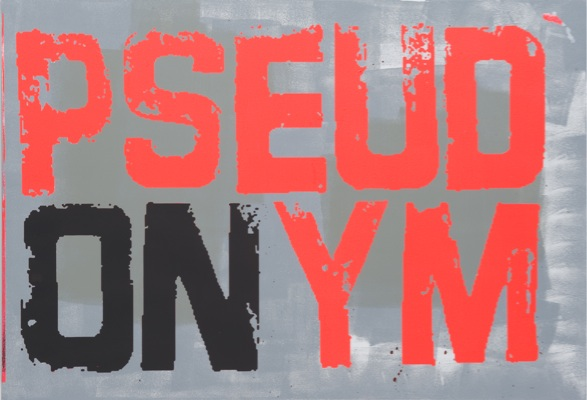 Johannes Wohnseifer, Pseudonym, 2010, acrylic, lacquer on aluminium, 70 x 100 cm 27 1/2 x 39 1/4 in