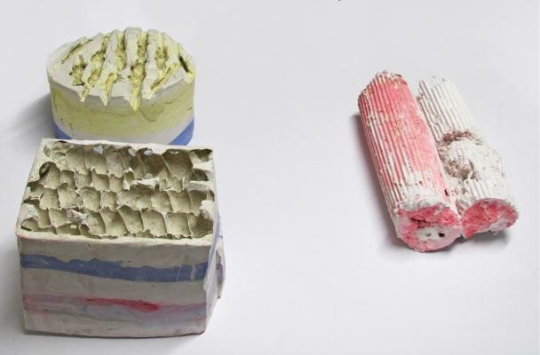 Tula Plumi, Untitled, 2011, plaster, variable dimensions