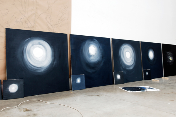 Ann Craven, the view of installation, 2008