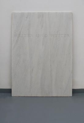 Alexandros Laios, Memorial, 2010, marble, 120 x 80 cm