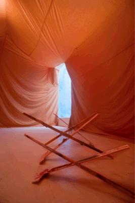 Reto Pulfer, Die Kammern Des Zustands, Fondazione Pastificio Cerere, Roma, 2011, Exhibition view