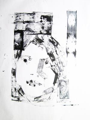 Evangelos Kaimakis, Portrait Machine #1, 2010, mixed media, 80x60 cm.