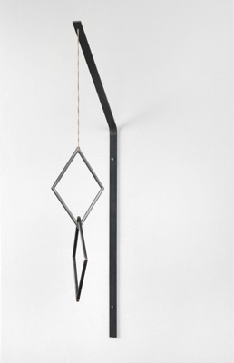 Lorna Macintyre,THE WORLD OF THE SEEN AND THE WORLD OFTHE UNSEEN, 2011, steel, stainless steel, string, 100 x 16,5 x 41,5 cm