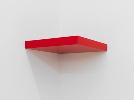 Gerwald Rockenschaub. Untitled. 2009. MDF, paint. 5x40x40 cm. Courtesy the artist and Galerie Eva Presenhuber, Zurich.