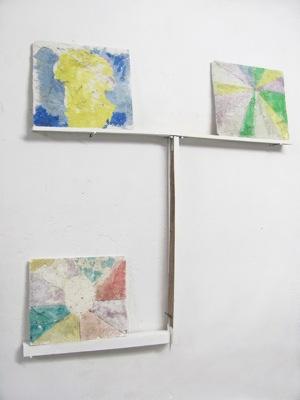 Tula Plumi, Landscapes, 2011, plaster, wood, 140x130x8 cm