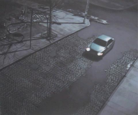 Μantalina Psoma, The Removal 18, 2011, oil on canvas, 50x60cm