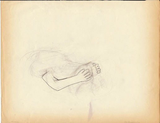 """Aliki Panagiotopoulou, """"What we are..."""", from the series """" All is fair in Love and War"""" 2009. Graphite on paper, 21x29cm"""