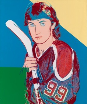 ANDY WARHOL (1928 Pittsburgh – 1987 New York) Portrait of Wayne Gretzky, 1983 acrylic on canvas, 127.3x106.6 cm © 2010 The Andy Warhol Foundation for the Visual Arts/Artists Rights   Society (ARS), NewYork/OSDEETE, Athens.  Photo The George Economou Collection