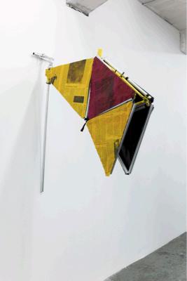 Yorgos Sapountzis, Bike No.5 (Symmetry), 2011, Cloth, aluminium tubes, alu-tape, colour, 118x97.5x19 cm