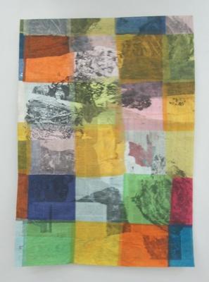 Gabriel Vormstein. Untitled. 2011. Mixed media on newspaper. 155x110 cm. Courtesy The Breeder.