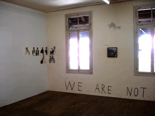 Marc Bauer, History of Masculinity III, Installation view Attitudes, 2007, Geneva, Switzerland