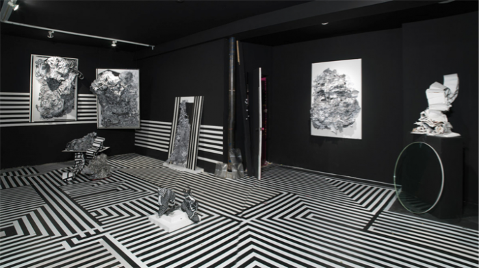 Raul deNieves, Riddlin Doors, 2009, Installation view at Newman Popiashvili Gallery