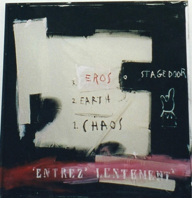 Maria Markopoulos-Koffa. Eros Earth Chaos. 2004. Mixed technique on canvas and plexi. 140x140 cm. Courtesy of the artist and SYNERGYO.