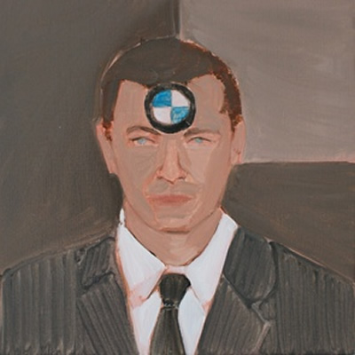 Poka-Yio. The Ambitious Manager. 2010. Oil on Canvas. 50x50 cm. Courtesy of the artist.