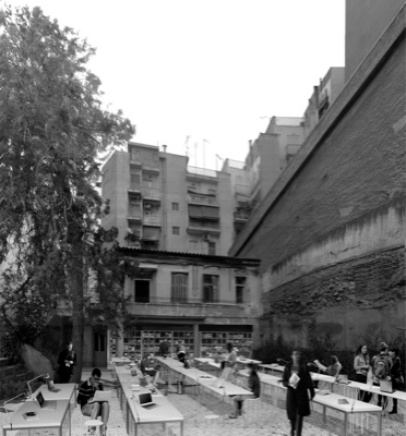 Antonas office, view of the courtyard, 07/07/11, photoshop, 27,84x30cm