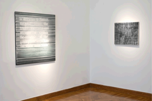 Kostas Tsolis, Installation view The Apartment 2011, Nanouk(left), Hunting scene (right)