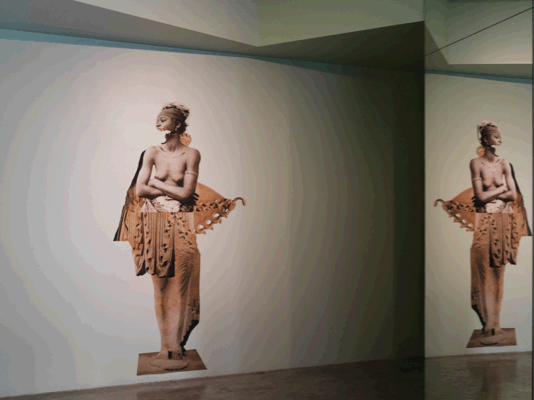 """HOPE, Installation view at """"Contemporary Woman in Greece"""", Hub, Athens, curated by Marina Fokidis"""