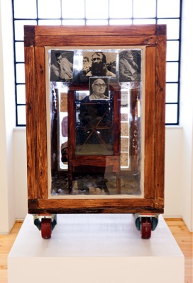 Theo Michael, Revolution of Doubt, 2009, Various materials, H: 100cm, D: 90cm W: 90cm, 130 x 190 x 190 cm with plinth